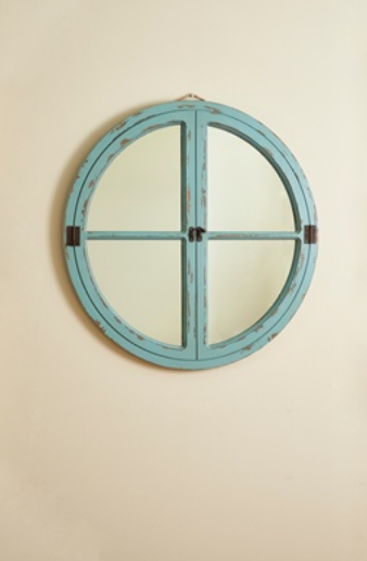 Oval metal and wood clock 4300 299 kc by design for 12 round window